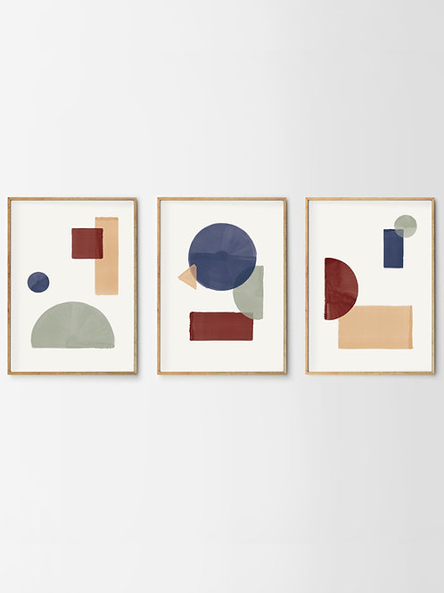 Artprints – Geometric Arrangements Trilogy