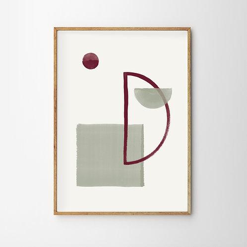 Artprint – Geometric Half Moon
