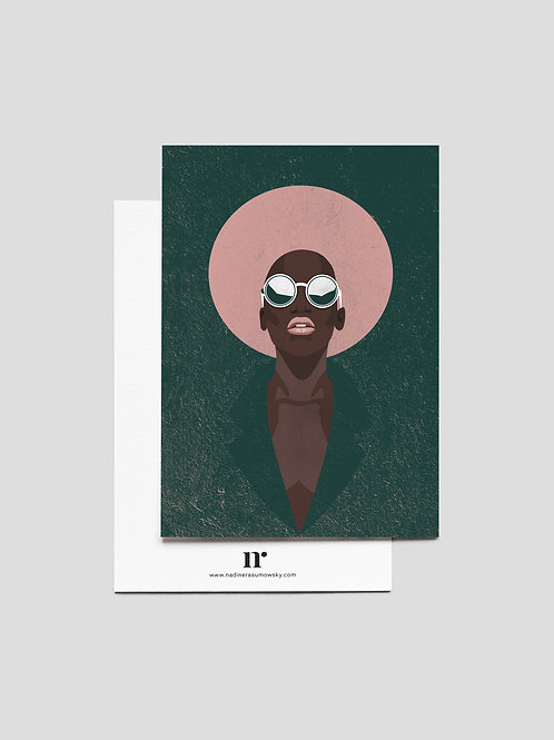 A6 Greetingcard: Pink Lips