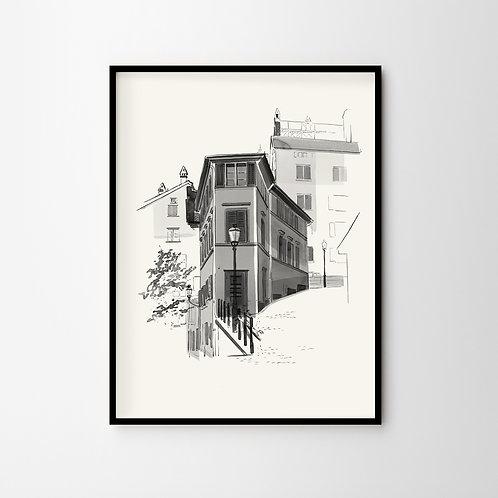 Artprint – Lindenhof Zürich