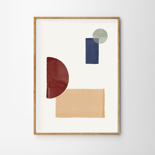 Artprint – Geometric Arrangement No.3