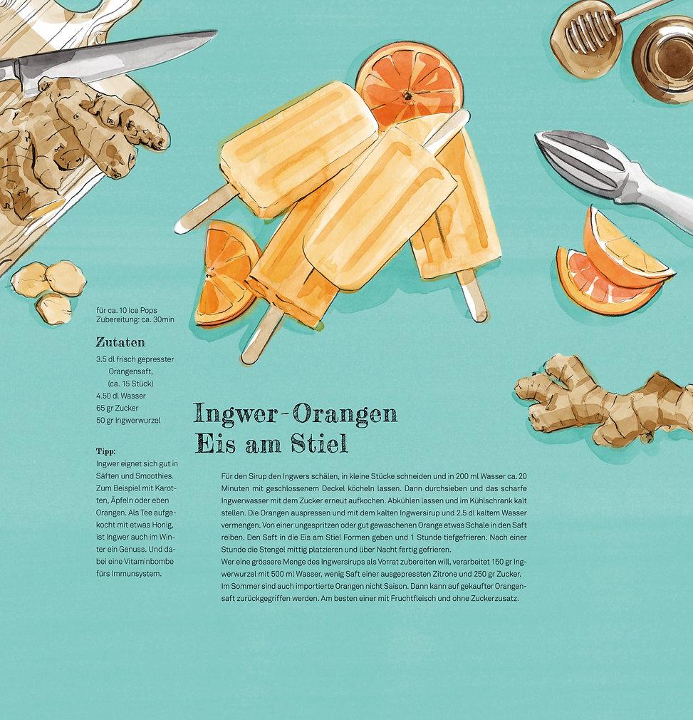 Watercolor Illustration Food