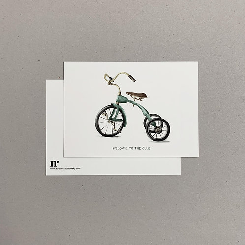 A6 Greetingcard: Tricycle