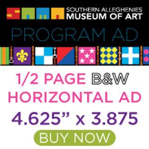 Program Ad Gala Half Page Horizontal B&W