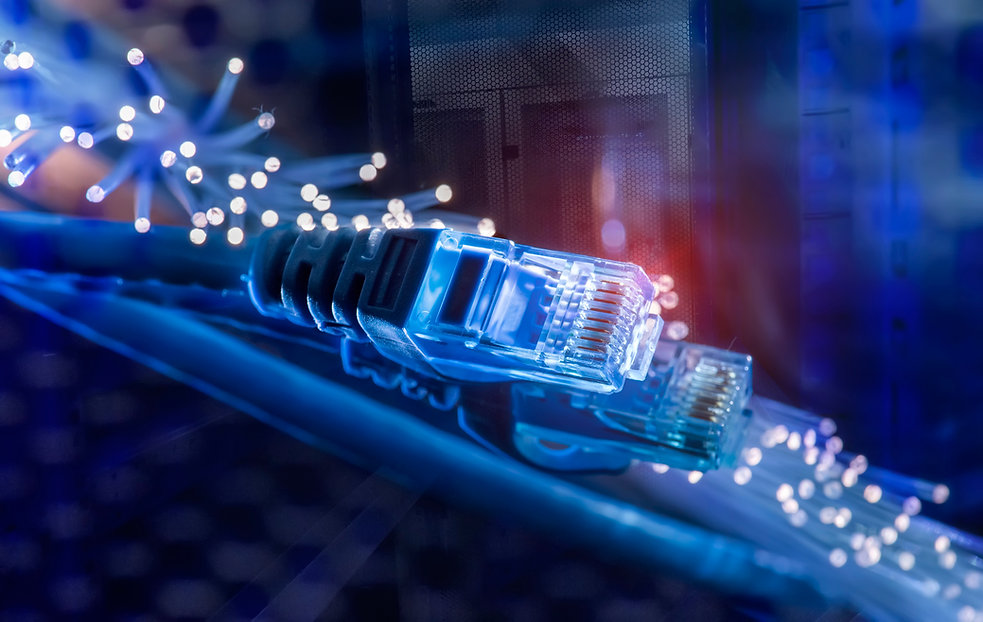 network cables with fiber optical backgr