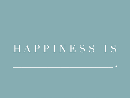 April: Intentional Happiness