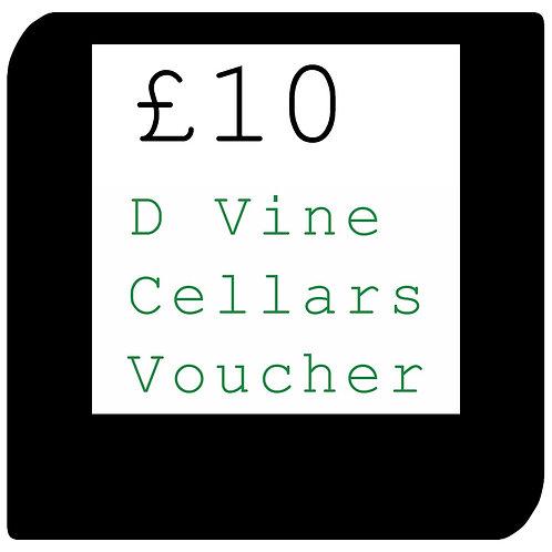 £10 D Vine Cellars Voucher