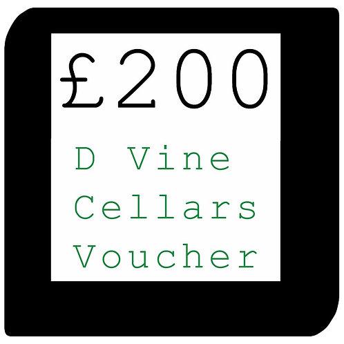 £200 D Vine Cellars Voucher
