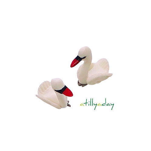 Clay Duck Figurine