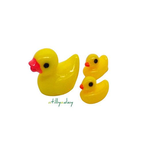 Yellow Duck Figurines