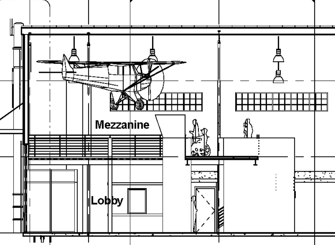 Side View of Mezzanine Area