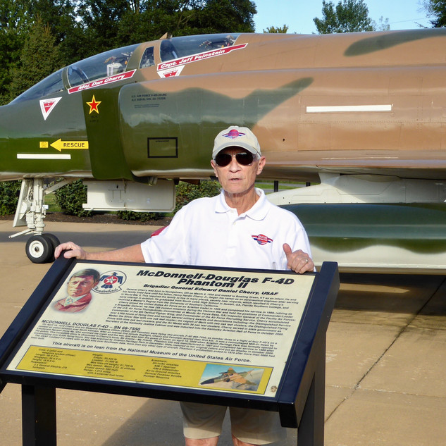 F-4D Phantom II  Gen. Dan Cherry, Director Emeritus- F-4D Phantom and My Enemy, My Friend presentor