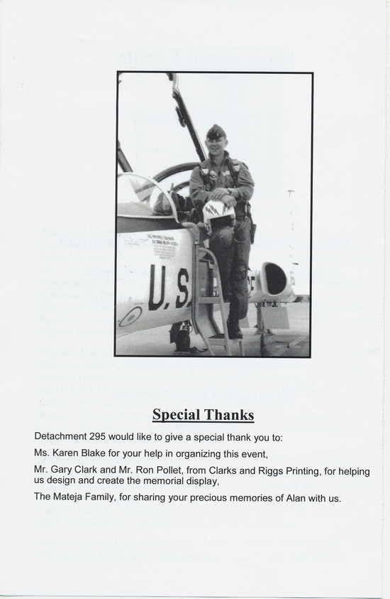 Fourth page of the program