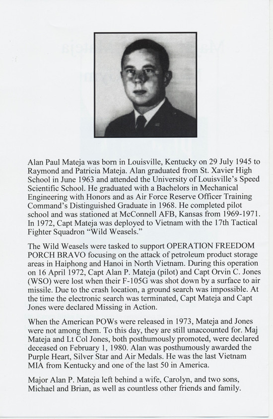 Second page of program