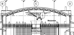 Front View of Mezzanine Area