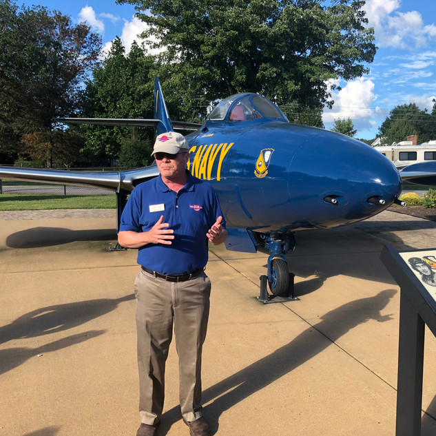"F-9F Panther  James Wright- ""Maddog""- Director Emeritus"
