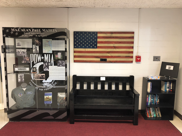 The display case and Flag of Valor next to it