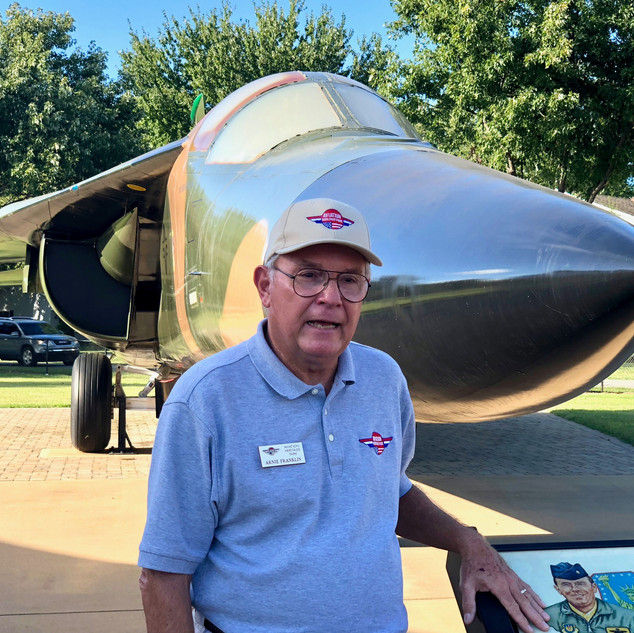 "F-111 Aardvark  Arnie Franklin- ""Rooster""- Director Emeritus. Arnie actually flew lead F-111 on the EL Dorado Canyon raid on Libya in 1986."