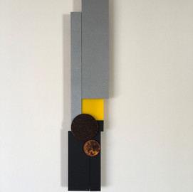 Yellow Square and Rusted Disc