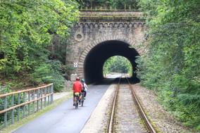 Radweg an der Kanonenbahn