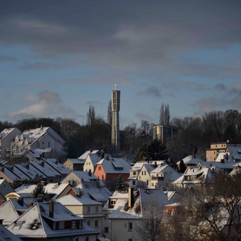 Neuschnee in Bad Vilbel