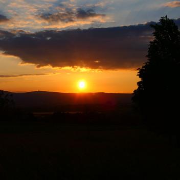 Sonnenuntergang  am Taunus