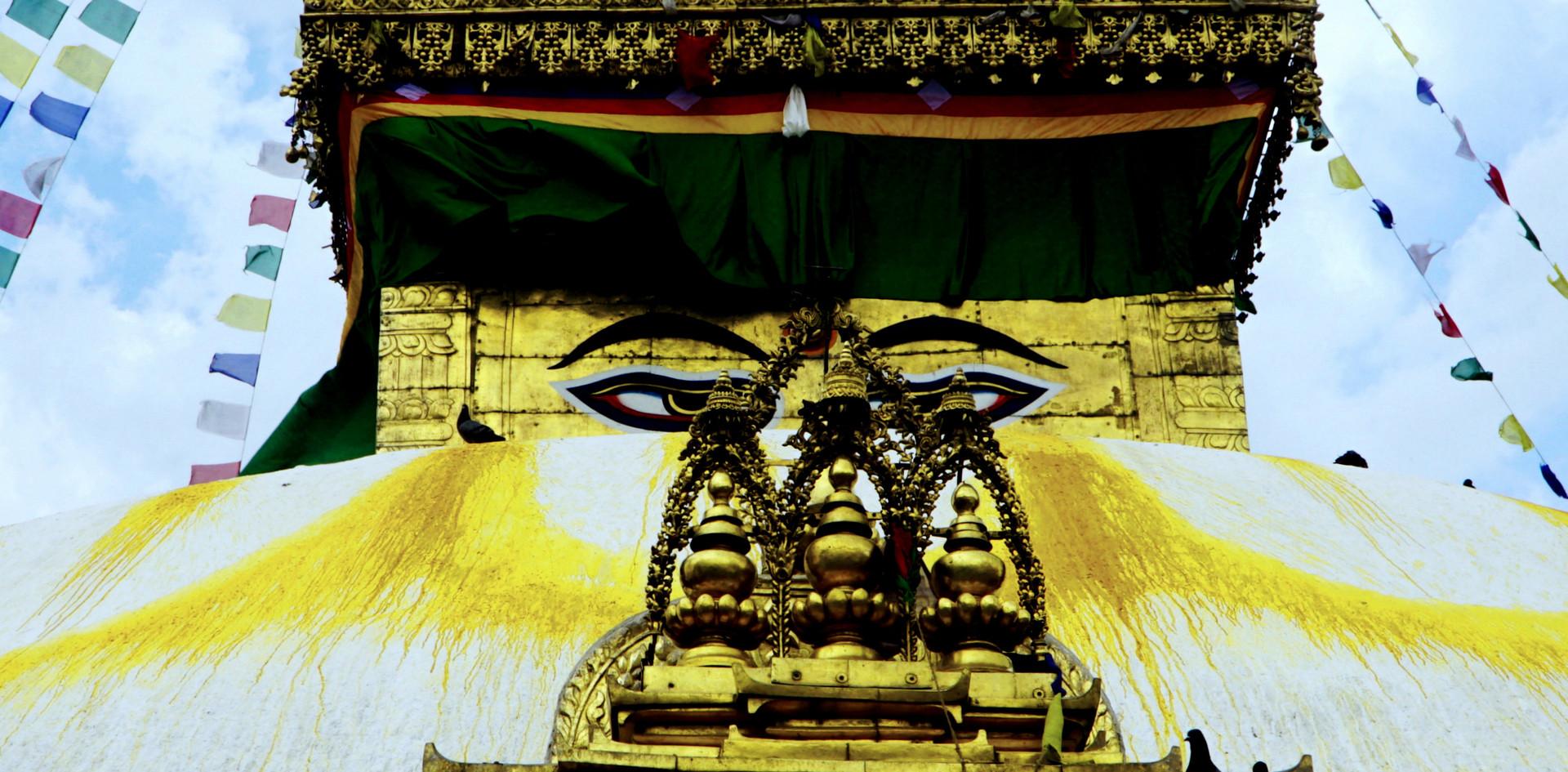 Weisheit Augen Swayambhunath Temple