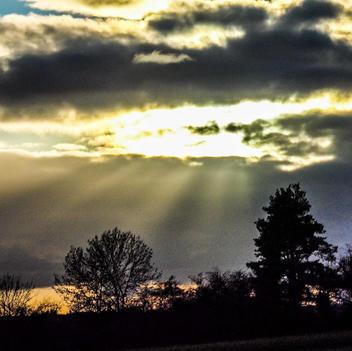 Dramatische Wolkenbildung