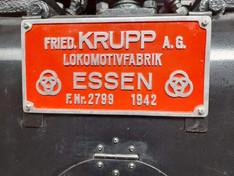Herstellerschild an einer BR44