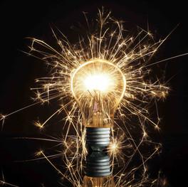 39 Lampe mit Wunderkerze