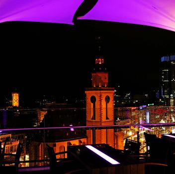 Blick von der Dachterrasse Frankfurt