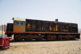 Diesellok Wadi Rum Sation / Jordanien