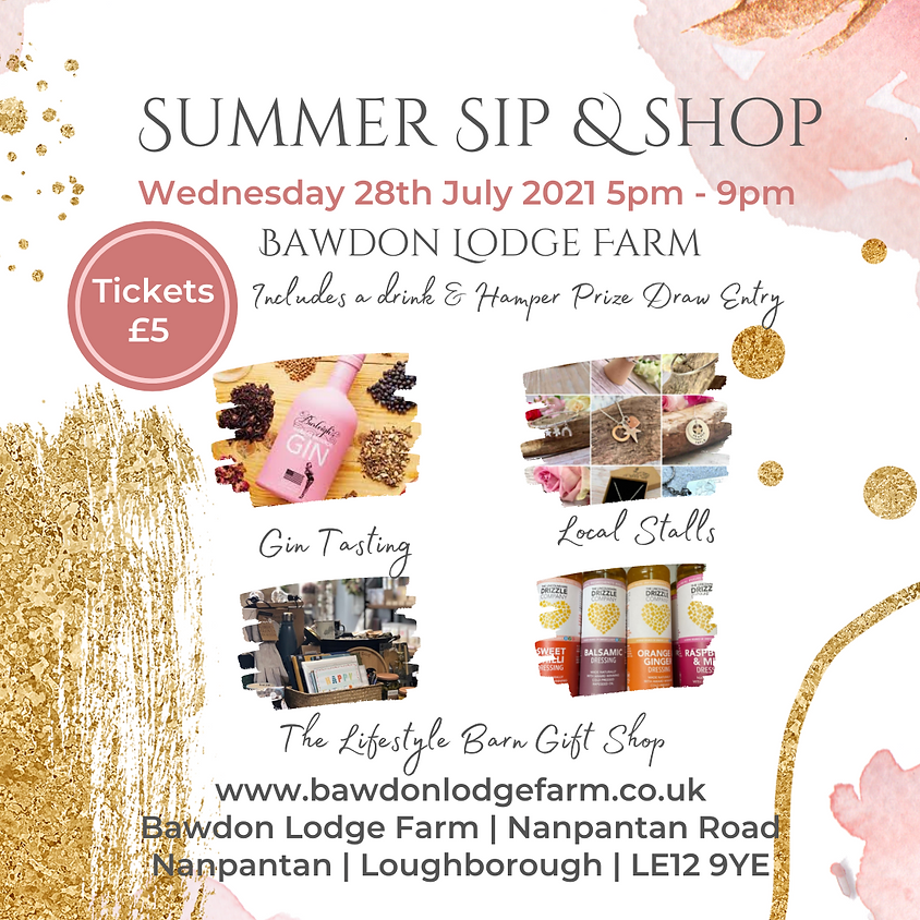 Summer Sip & Shop at Bawdon Lodge Farm
