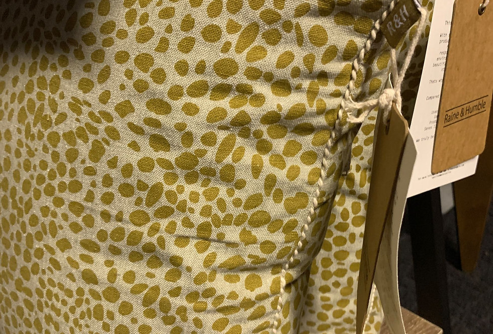 Animal Print Cushion - Mustard