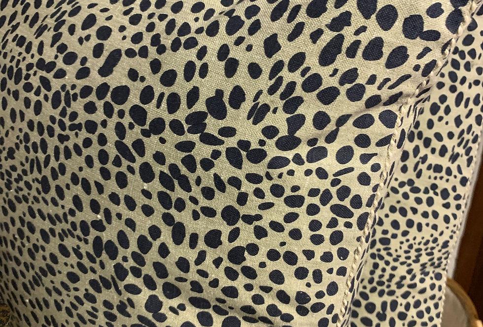 Animal Print Cushion - Navy Blue