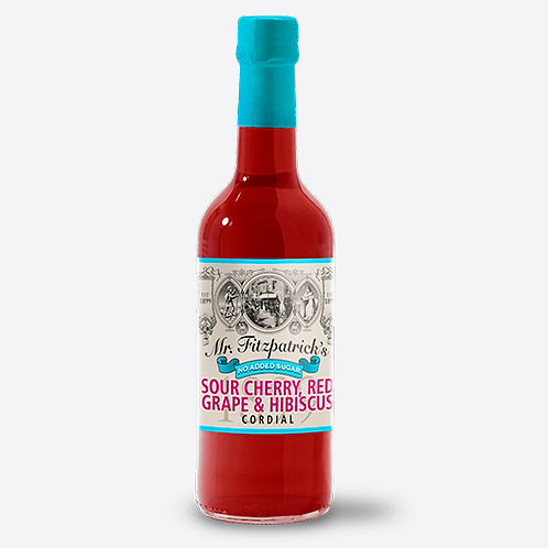Mr Fitzpatrick's Sour Cherry, Red Grape & Hibiscus Cordial (No added sugar)