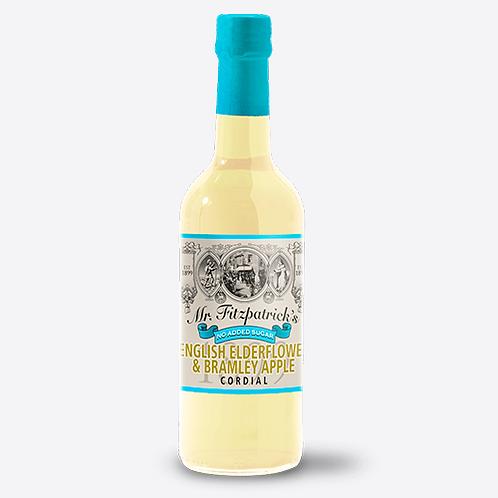 Mr Fitzpatrick's English Elderflower & Bramley Apple Cordial (No Added Sugar)