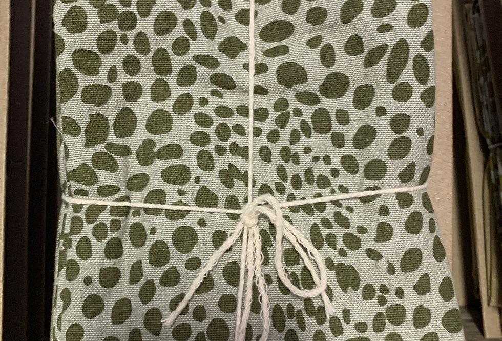 Animal Print Tea towel Pk - Khaki Green