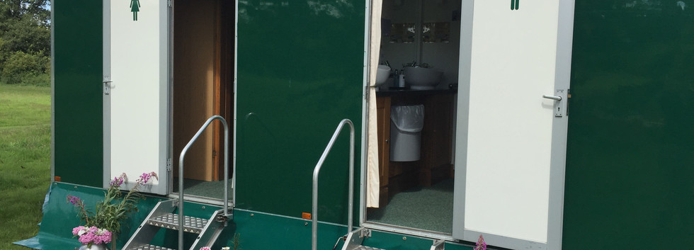 Luxury toilet hire including essential basket availble from Bawdon Lodge Farm