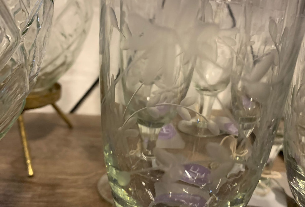 Champagne Glass - flowers
