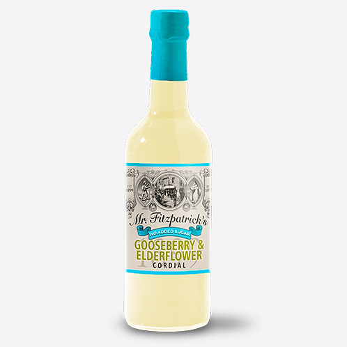 Mr Fitzpatrick's Gooseberry & Elderflower Cordial (No added sugar)