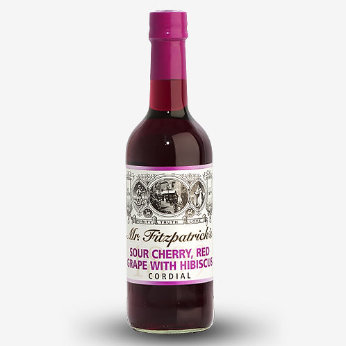 Mr Fitzpatrick's Sour Cherry, Red Grape & Hibiscus Cordial