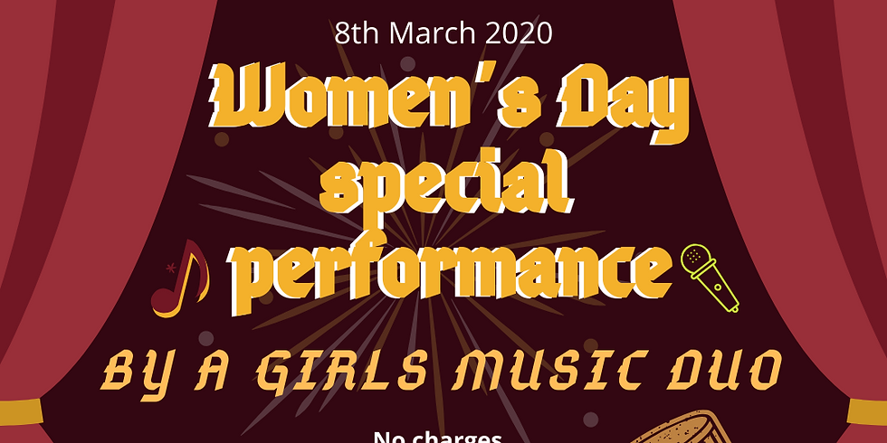 Women's Day Performance by a Girls Music Duo
