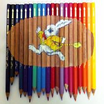 Acrylic paing on pencils