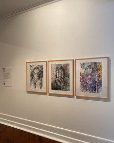 Large mixed media images from exhibition