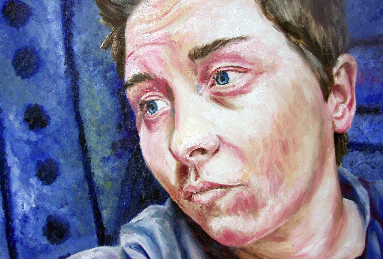 Self Portrait, OIL ON CANVAS, 90 X 62.JPG