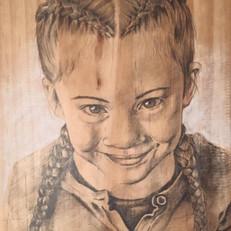 Pencil on wood
