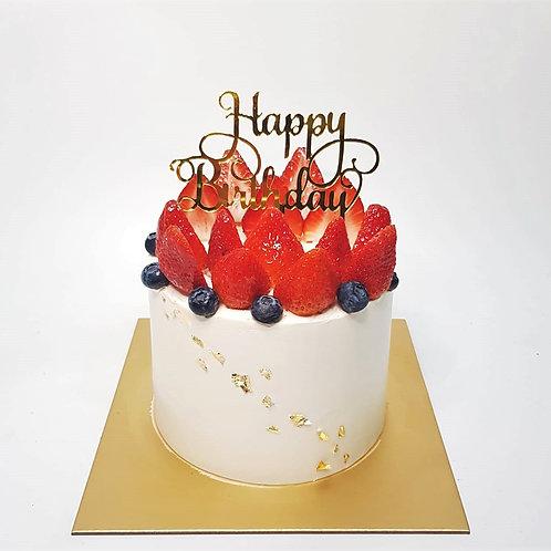 Berries Simple Money Pulling Cake