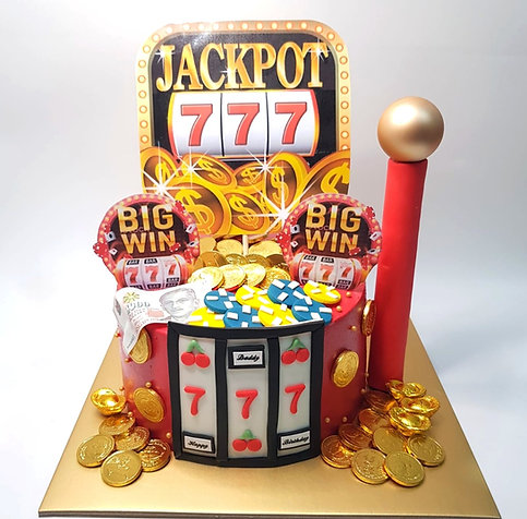 Jackpot Casino Red Money Pulling Cake