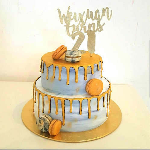 Marble Gold Drip Cake